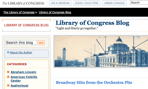 Libary of Congress Official Blog