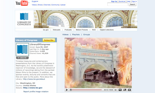 Library of Congress YouTube